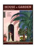 House & Garden Cover - January 1933 Giclee Print by Georges Lepape