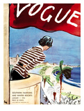 "Vogue Cover - January 1932 Regular Giclee Print by Carl ""Eric"" Erickson"