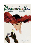 Mademoiselle Cover - October 1935 Regular Giclee Print by Helen Jameson Hall