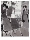 Vogue - November 1930 Regular Giclee Print by Jean Pagès