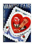 Vanity Fair Cover - February 1933 Regular Giclee Print by Miguel Covarrubias