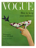 Vogue Cover - April 1957 Giclée-Druck von Richard Rutledge