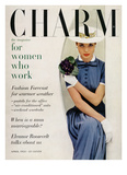 Charm Cover - April 1955 Reproduction proc&#233;d&#233; gicl&#233;e par Carmen Schiavone