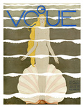 Vogue Cover - July 1931 Regular Giclee Print by Georges Lepape