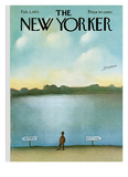 The New Yorker Cover - February 5, 1972 Reproduction procédé giclée par Saul Steinberg