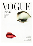 Vogue Cover - January 1950 - Doe Eye Regular Giclee Print by Erwin Blumenfeld