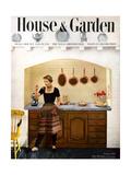House & Garden Cover - February 1950 Giclee Print by Herbert Matter