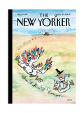 The New Yorker Cover - November 30, 2009 Regular Giclee Print by George Booth