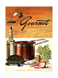Gourmet Cover - March 1941 Regular Giclee Print by Henry Stahlhut