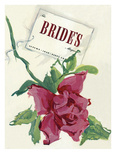 Brides Cover - August, 1939 Regular Giclee Print by  Marchiano