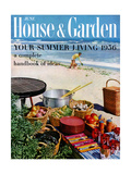 House & Garden Cover - June 1956 Regular Giclee Print by Tom Leonard