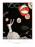 Vogue Cover - March 1925 Regular Giclee Print by Georges Lepape