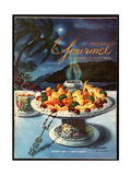 Gourmet Cover - August 1954 Regular Giclee Print by Henry Stahlhut
