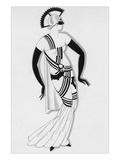 Vogue - December 1930 Regular Giclee Print by Robert E. Locher