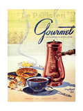 Gourmet Cover - February 1950 Regular Giclee Print by Henry Stahlhut