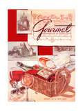 Gourmet Cover - January 1954 Regular Giclee Print by Henry Stahlhut