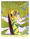Vogue Cover - January 1927 Regular Giclee Print by Eduardo Garcia Benito