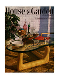 House & Garden Cover - July 1945 Premium Giclee Print by John Rawlings