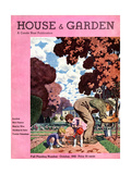 House & Garden Cover - October 1932 Giclee Print by Pierre Brissaud