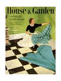 House & Garden Cover - March 1952 Giclee Print by Herbert Matter