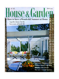 House & Garden Cover - June 1959 Regular Giclee Print by Julius Shulman