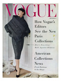 Vogue Cover - September 1955 Giclee Print by Henry Clarke
