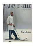 Mademoiselle Cover - December 1947 Regular Giclee Print by George Barkentin