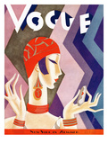 Vogue Cover - July 1926 - Fashion Zig Zag Regular Giclee Print by Eduardo Garcia Benito