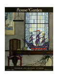 House & Garden Cover - April 1919 Giclee Print by Harry Richardson