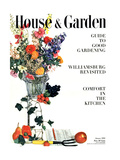 House & Garden Cover - January 1950 Regular Giclee Print by Herbert Matter