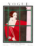 Vogue Cover - October 1924 Giclee Print by Harriet Meserole