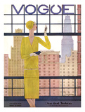 Vogue Cover - May 1928 - City View Regular Giclee Print by Georges Lepape