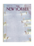 The New Yorker Cover - April 7, 1986 Regular Giclee Print by Eugène Mihaesco