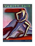 Vanity Fair Cover - January 1929 Giclee Print by Symeon Shimin