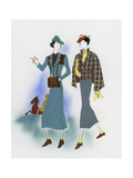 Vogue - November 1935 Regular Giclee Print by Raymond de Lavererie