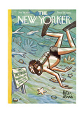 The New Yorker Cover - January 28, 1956 Regular Giclee Print by Peter Arno