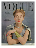 Vogue Cover - May 1950 Premium Giclee Print by John Rawlings