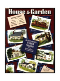 House & Garden Cover - August 1941 Regular Giclee Print by Robert Harrer