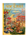The New Yorker Cover - January 8, 1955 Regular Giclee Print by Ilonka Karasz