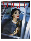 Vogue Cover - March 1957 Regular Giclee Print by Clifford Coffin