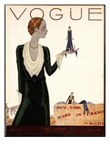 Vogue Cover - April 1930 Regular Giclee Print by Jean Pagès