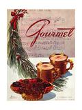 Gourmet Cover - December 1943 Giclee Print by Henry Stahlhut