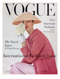 Vogue Cover - March 1956 Regular Giclee Print by Karen Radkai