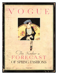 Vogue Cover - February 1919 Giclee Print by Harriet Meserole