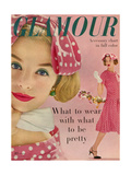 Glamour Cover - March 1958 Giclee Print by Sante Forlano