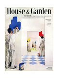 House & Garden Cover - March 1950 Giclee Print by Herbert Matter