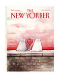 The New Yorker Cover - February 18, 1991 Giclee Print by Ronald Searle