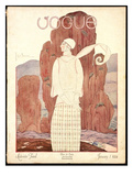 Vogue Cover - January 1924 Giclee Print by Georges Lepape