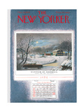The New Yorker Cover - December 25, 1954 Giclee Print by Garrett Price