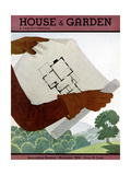 House & Garden Cover - November 1934 Regular Giclee Print by Georges Lepape